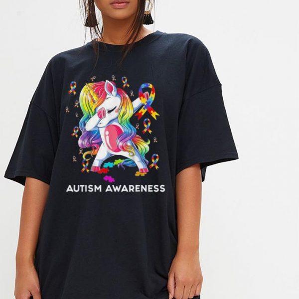 Dabbing Unicorn Puzzle Ribbon Autism awareness shirt