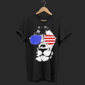 Eyes Catching Lion American Flag shirt