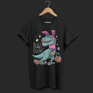 Kids Easter Basket Stuffers T Rex Easter Bunny Eggscellent shirt