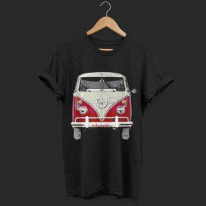 Vintage 1960s Hippie Red Micro Bus Van shirt