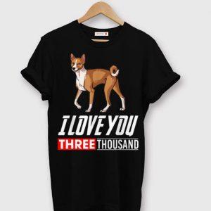 Basenji Dog I Love You 3000 shirt