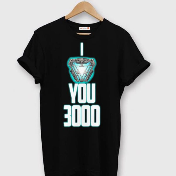 I Love You 3000 Dad And Daughter Arc Reactor shirt