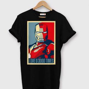Iron Man I Love You 3000 Dad And Daughter shirt