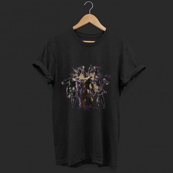 Marvel Avengers Endgame Six Super Heroes and Thanos shirt