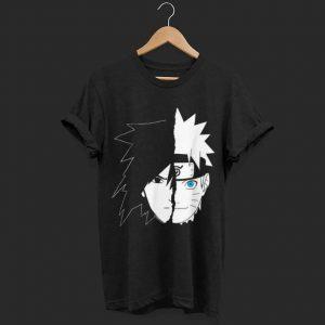Naruto Shippuden Naruto Sasuke Split Face shirt