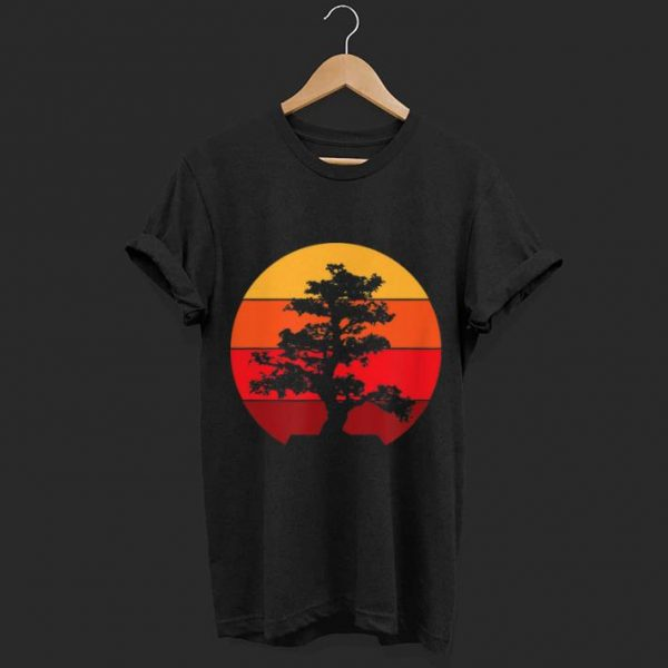 Pacific Ocean Beach Bonsai Tree Sun Retro Vintage shirt