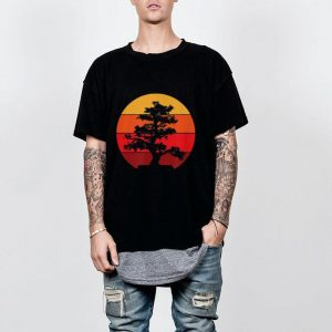 Pacific Ocean Beach Bonsai Tree Sun Retro Vintage shirt 1