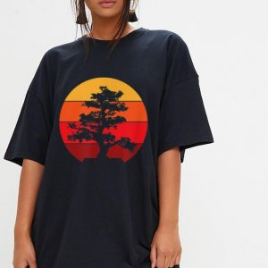 Pacific Ocean Beach Bonsai Tree Sun Retro Vintage shirt 2