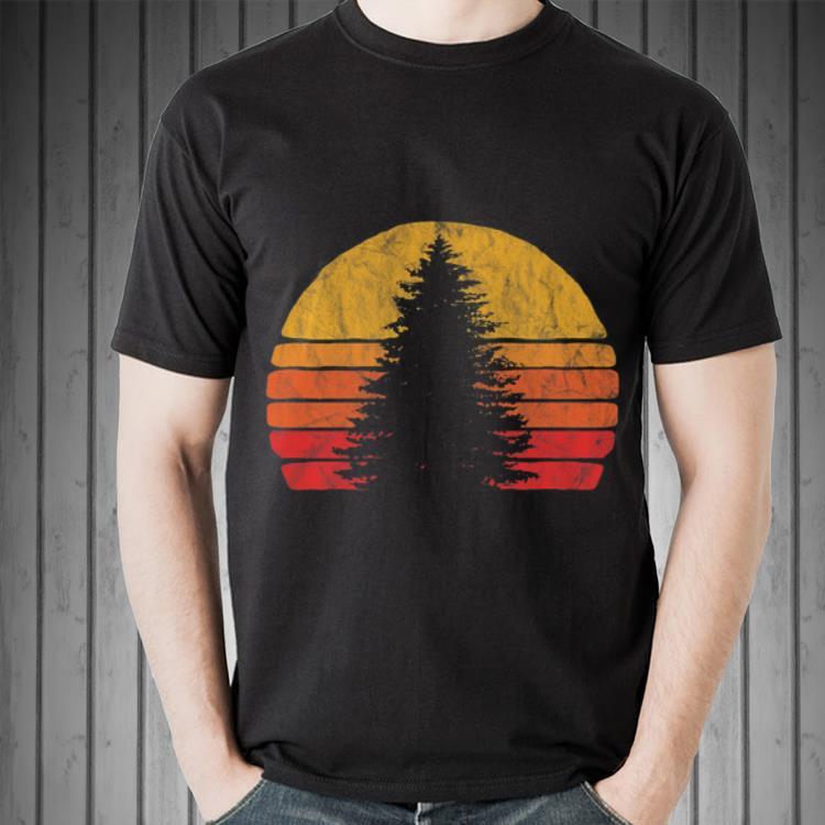 Minimalist Pine Tree: Retro Sun Minimalist Pine Tree Shirt, Hoodie, Sweater