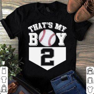 That's My Boy Baseball 2 Years Old Mom Dad shirt