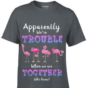 Apparently We're Trouble When We Are Together Flamingo shirt