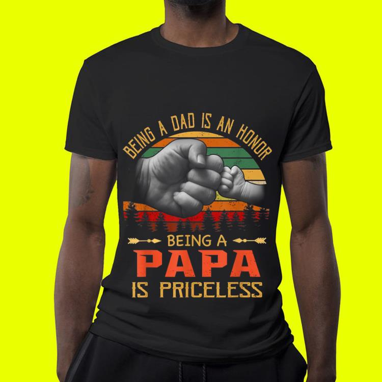 Being A Dad is an Honor Being a Papa is Priceless Sunset shirt 4 - Being A Dad is an Honor Being a Papa is Priceless Sunset shirt
