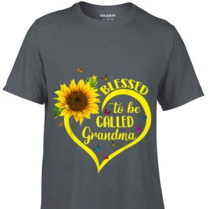Blessed To Be Called Grandma Sunflower Heart shirt