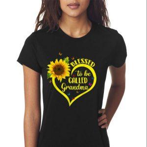 Blessed To Be Called Grandma Sunflower Heart shirt 2