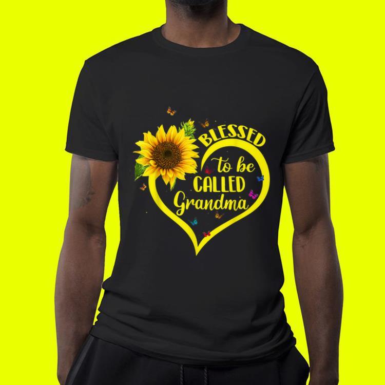 Blessed To Be Called Grandma Sunflower Heart shirt 4 - Blessed To Be Called Grandma Sunflower Heart shirt
