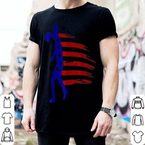 4th July Baseball Distressed Usa Flag Patriotic shirt