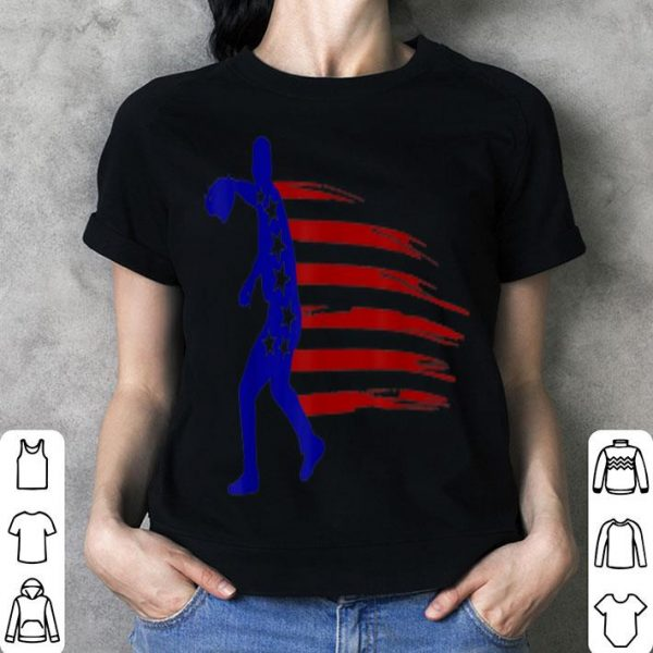 4th July Baseball Distressed Usa Flag Patriotic shirt