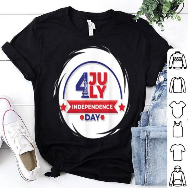 4th July independence day America staue of liberty shirt