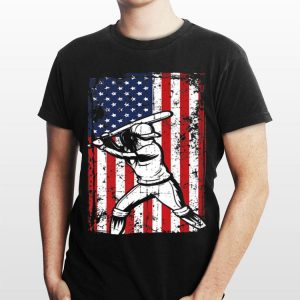 4th Of July American Flag Softball Baseball Player shirt