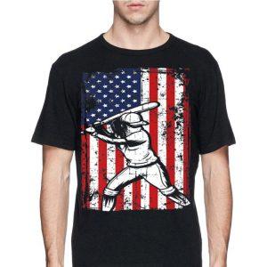 4th Of July American Flag Softball Baseball Player shirt