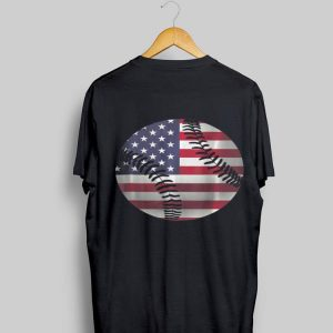4th Of July Baseball American Flag Hardball Sports Fun shirt