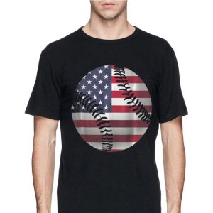 4th Of July Baseball American Flag Hardball Sports Fun shirt