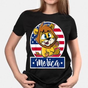 4th Of July 'Merica Baby Lion & American Flag shirt