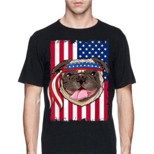 4th Of July Merica Patriotic Flag Usa Pug shirt
