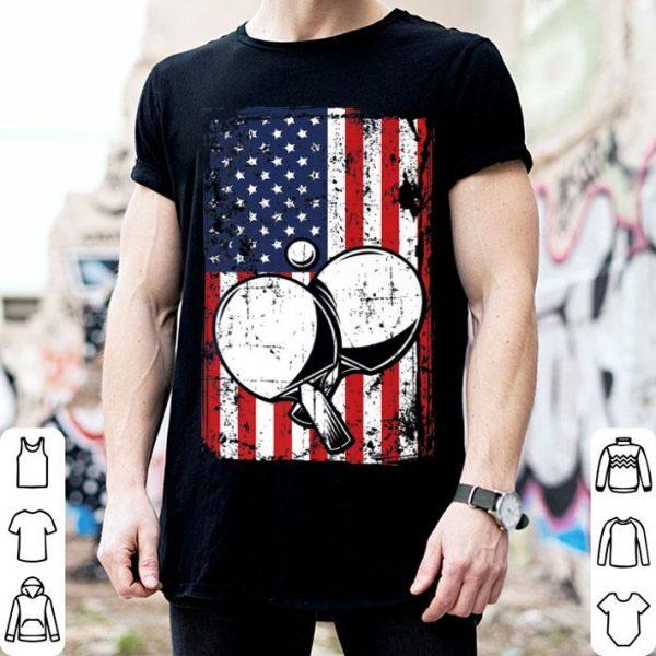 4th of July American Flag Ping Pong Paddle shirt