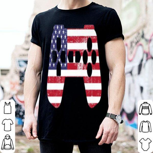 4th of July Video Game Gamer USA Flag shirt