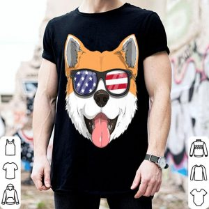 Akita Inu Dog Patriotic Usa 4th Of July American shirt