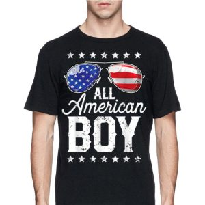 All American Boy Sunglass America Flag 4th Of July Independence Day shirt