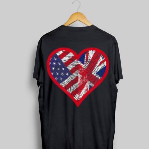 America And United Kingdom Two Countries One Heart shirt