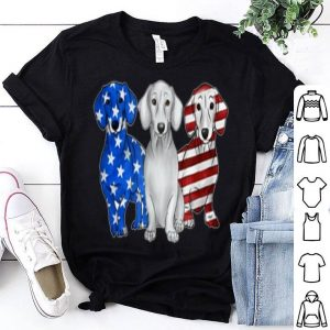 American Flag Dachshund Dogs 4th Of July shirt