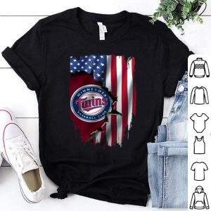 American Flag Minnesota Twins MLB shirt