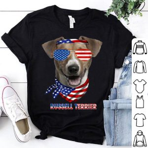 American Flag Russell Terrier Dog Lover shirt