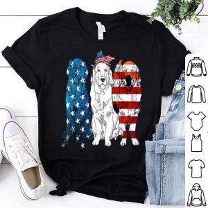 American Golden Retriever Patriotic US Flag 4th Of July