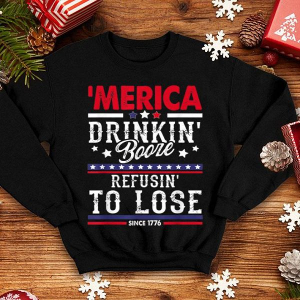 American Patriot Drinking 4th Of July shirt
