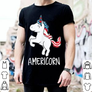 Americorn 4th Of July Unicorn American Flag shirt