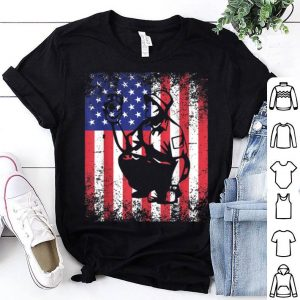 Archaeologist Dad USA Flag Patriotic 4th of July shirt