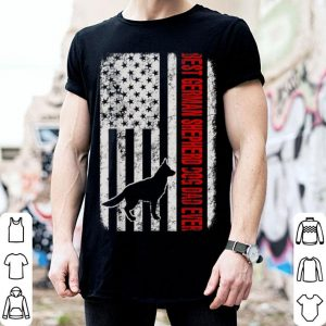 Best German Shepherd Dog Dad Ever American Flag shirt