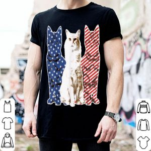 Cat Red White Blue American Flag Patriotic shirt