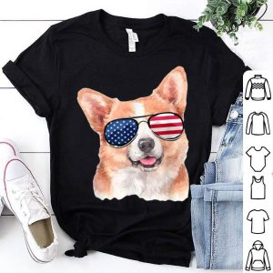 Corgi Dog Patriotic American Flag 4th Of July shirt