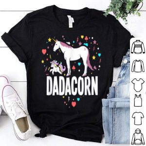 Dadacorn Dad And Baby Fathers Day shirt
