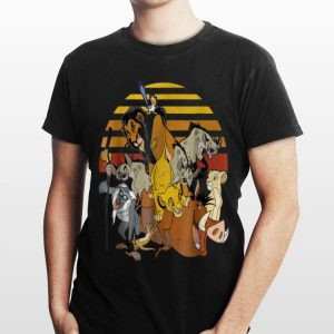Disney Lion King Group Retro Stripe Sunset Vintage shirt