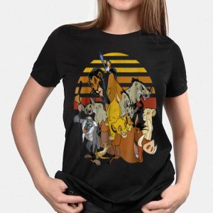 Disney Lion King Group Retro Stripe Sunset Vintage shirt