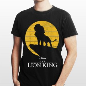 Disney The Lion King Simba Pride Rock Sun Silhouette shirt