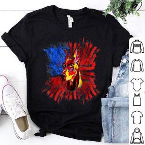 Doberman American Flag Usa Patriotic Splash Dog shirt