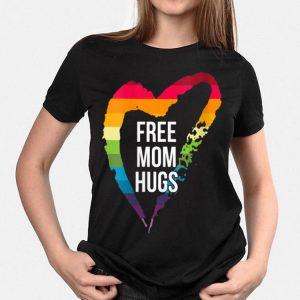 Free Mom Hugs LGBT Vneck shirt