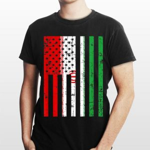 Iran American Flag For New Us Citizen shirt
